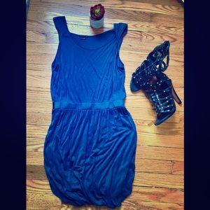 Theory | Blue Asymmetrical Bubble Skirt Dress